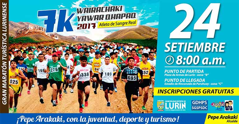 Carrera 7K Wairachaki Yawar Qhapaq 2017