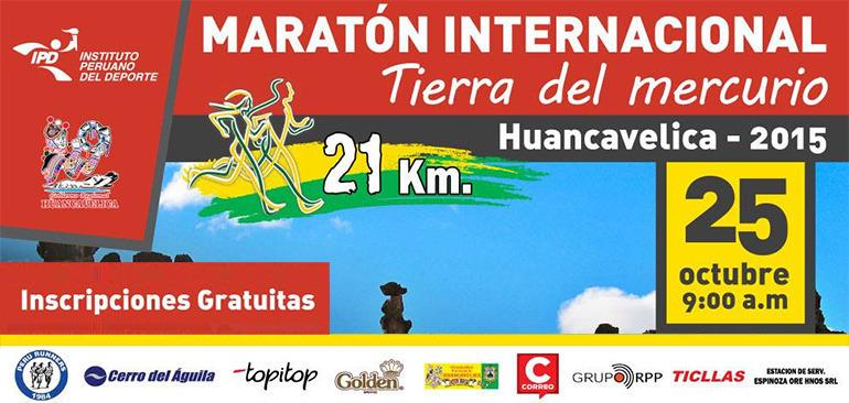 Maraton Internacional Tierra del Mercurio Huancavelica 2015