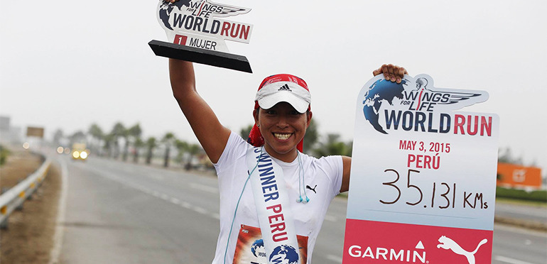 Entrevista a Rocío Carrión, ganadora de la Wings for Life World Run Perú 2015