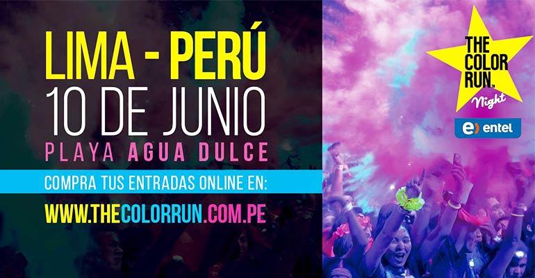 The Color Run Night Entel Lima 5K 2017
