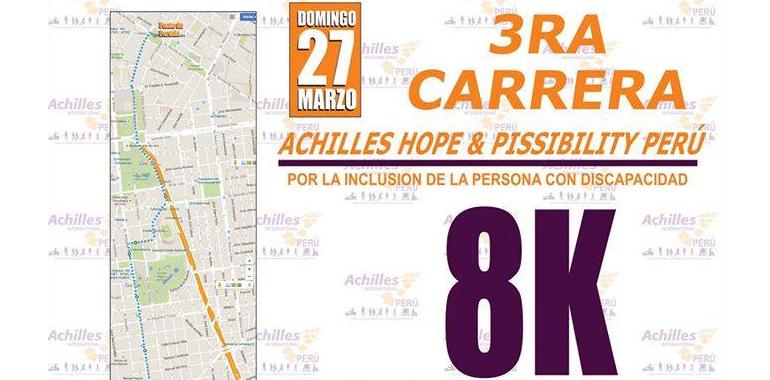 3ra Carrera Achilles Hope & Possibility Perú 8K 2016