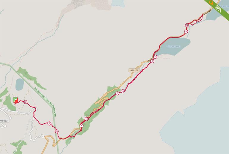 Mapa de la Ruta 21K del Ultra Trail 69 (UT69) 2017