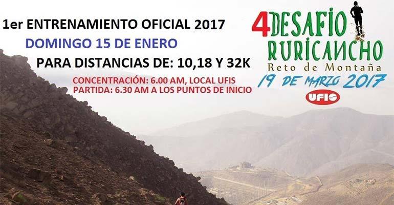 Primer Entrenamiento Oficial Desafío Ruricancho 2017