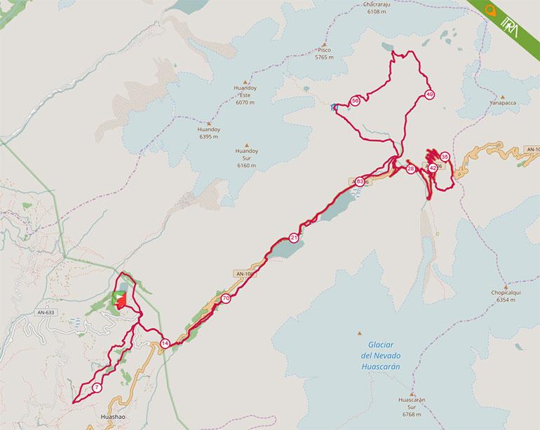 Mapa de la Ruta 80K del Ultra Trail 69 (UT69) 2017