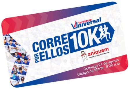 Tarjeta Inscripción de la Carrera Corre Por Ellos 10K 2016