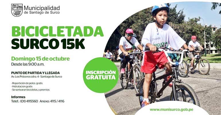 Bicicletada Surco 15K 2017