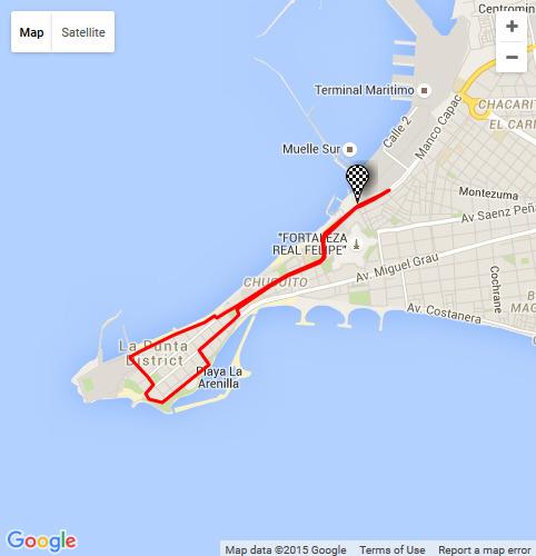 Carrera dp world callao 6k 2015 running 4 peru mapa de la ruta de la carrera dp world callao 6k 2015 gumiabroncs Choice Image