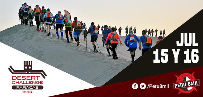 Perú 8mil Desert Challenge Paracas 100K 2016