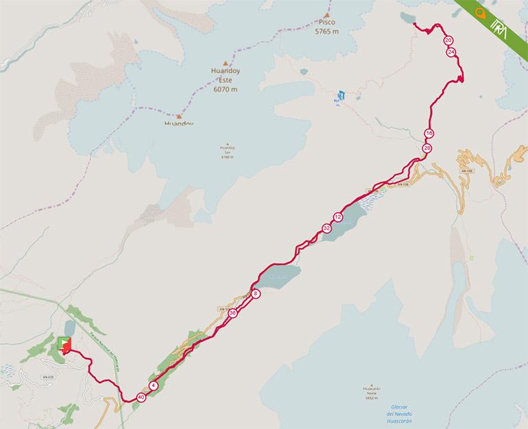 Mapa de la Ruta 42K del Ultra Trail 69 (UT69) 2017