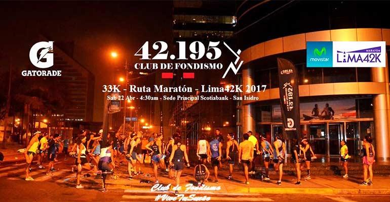 42.195CF - Fondo 33K Ruta Maratón Lima42K - 22 Abril 2017