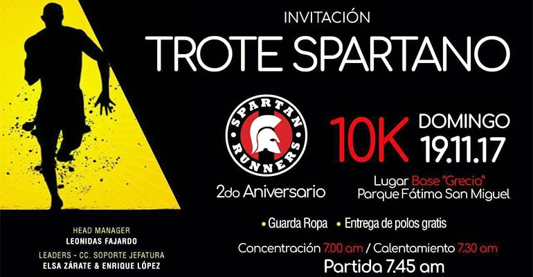 Trote Spartano 10K 2017