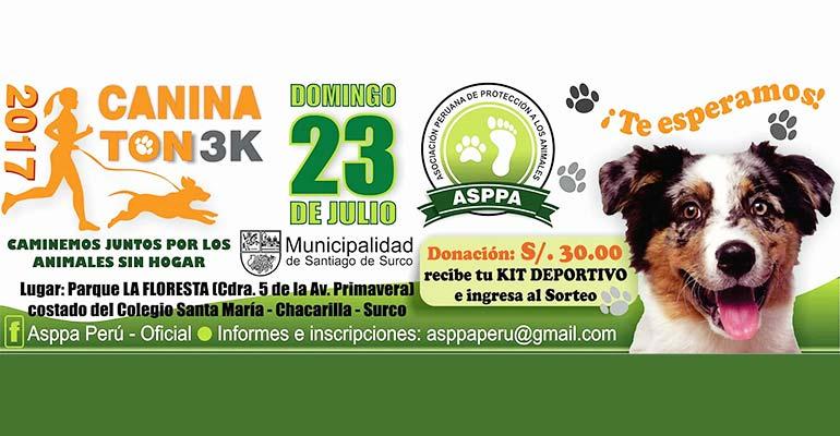 """Caninatón 3K """"Caminemos Juntos por los Animales sin Hogar"""" 2017"""