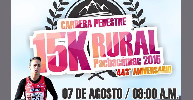 Carrera Pedestre 15K Rural Pachacamac 2016