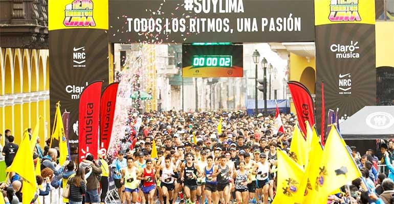 Deportistas recorrieron cinco distritos de la capital en la 108 Media Maratón de Lima