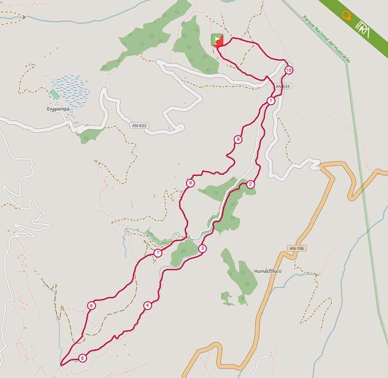 Mapa de la Ruta 10K del Ultra Trail 69 (UT69) 2017