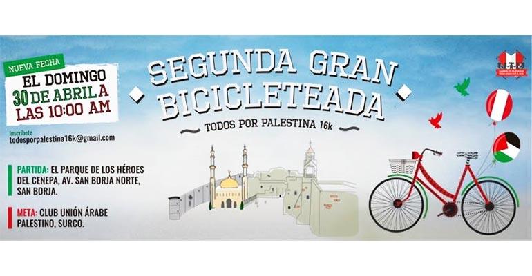 Bicicleteada Por La Paz En Palestina 2017