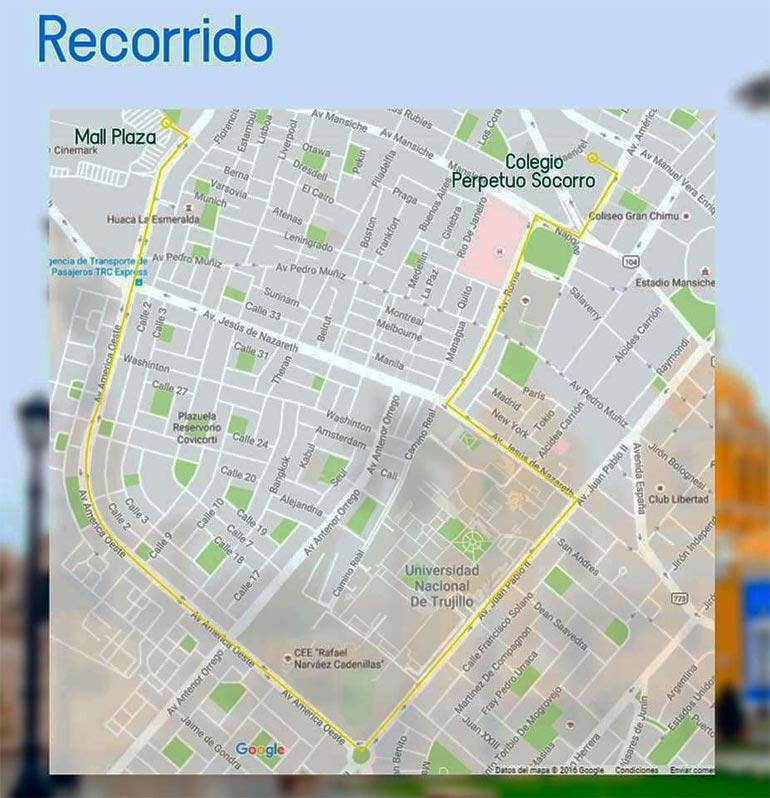 Mapa de la Ruta de la Carrera Subway 5K 2016