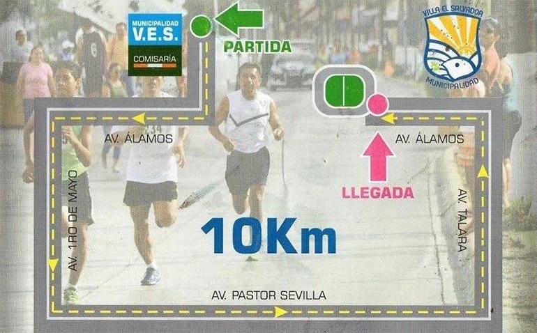 Carrera villa el salvador 10k 2015 running 4 peru for Plano de villa el salvador