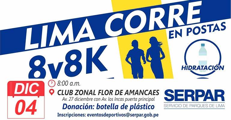 Carrera 8 y 8K Lima Corre En Postas 2016