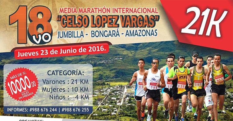 Media Maratón Internacional Jumbilla 2016