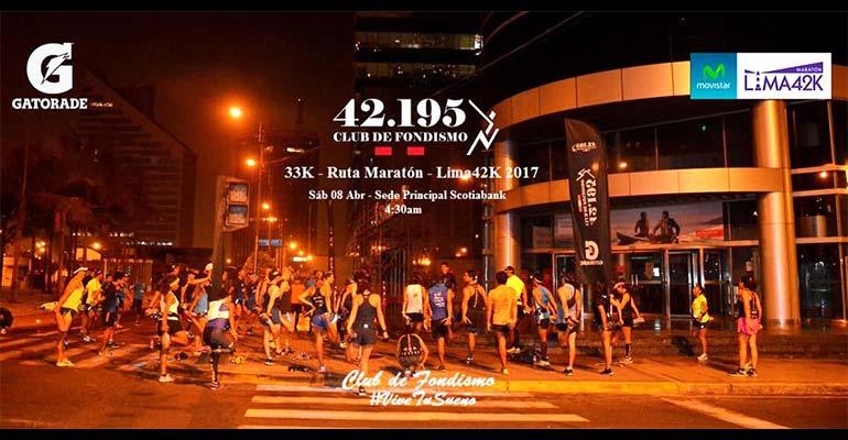 42.195CF - Fondo 33K Ruta Maratón Lima42K - 8 Abril 2017