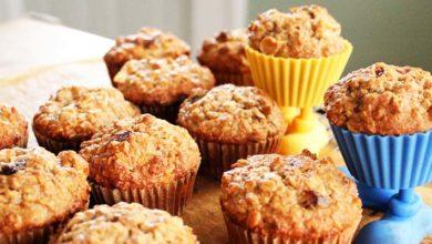 Muffins de plátano y manzana