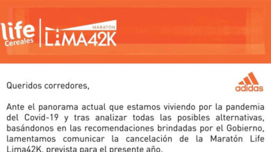 Se cancela la Maratón Life Lima 42K 2021